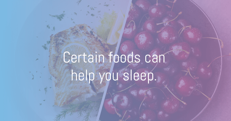 Eating certain foods can help you fall asleep.