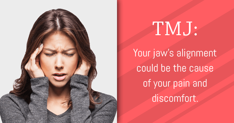Misaligned teeth or jaws can cause headaches related to TMJ disorder.